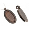 Bezel Handmade Pendant Oval 38x19x7mm Antique Copper